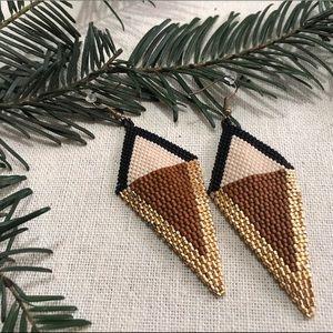 Noonday Beaded Earrings EUC